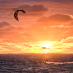 Sunset Kiteboarding