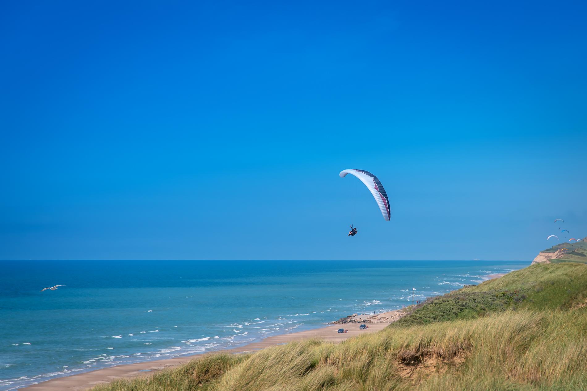 Paraglider, Løkken, Denmark
